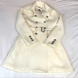 WHBM WHITE BELTED TRENCH COAT SIZE SMALL